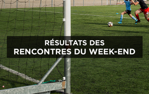 Résultats du week-end - 17 & 18/10/20